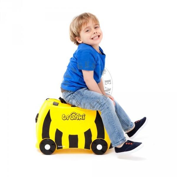 valise pour enfant avec roulette abeille de trunki. Black Bedroom Furniture Sets. Home Design Ideas