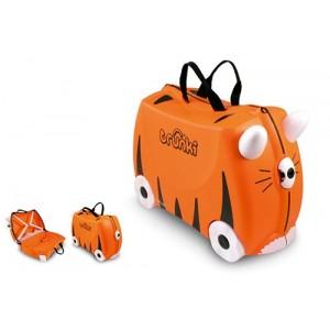 Valise à roulette Tigre Tipu pour enfant