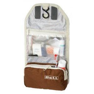 Trousse de toilette compacte marron