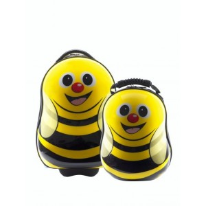 Ensemble valise à roulette et sac à dos Abeille de Cuties and Pals