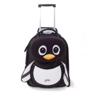 Valise enfant à roulette souple Pingouin - Cuties and Pals