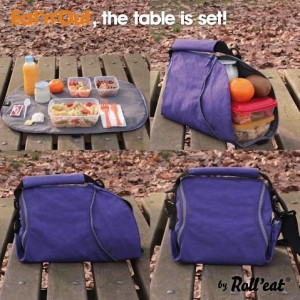Sac repas pliable Lunch bag 2 en 1