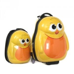 Ensemble valise à roulette et sac à dos Pingouin