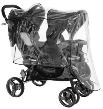 Protection de pluie universelle pour poussette jumeaux (1devant-1derrière) - ISI Mini