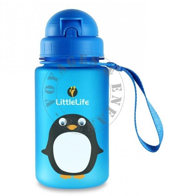 gourde enfant animal pingouin little life gourde plastique sans bpa. Black Bedroom Furniture Sets. Home Design Ideas