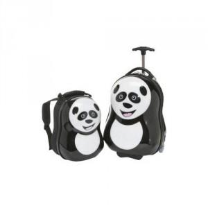 Ensemble valise à roulette et sac à dos Panda