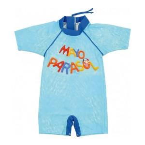 Combinaison anti UV / maillot de bain bleu Piscine