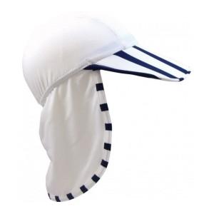 Casquette blanche avec rayure bleu anti UV Sophie la Girafe