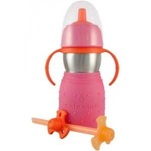 Gourde inox rose pour bébé / Tasse à boire Sippy Safe