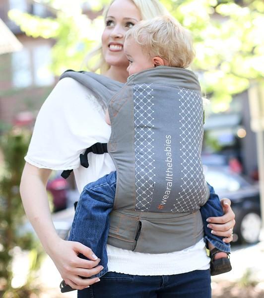 Porte bébé physiologique Boba 4G wearallthebabies Gris