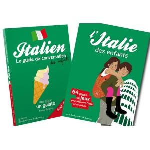 Lot guide conversation et livre-jeu Italie pour les enfants