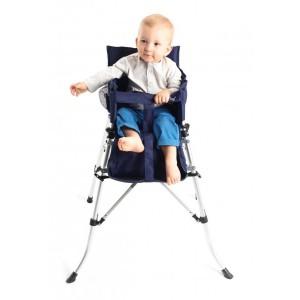 Chaise haute pliante bébé compacte BabyToLove - bleue