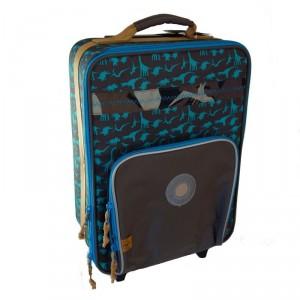 Valise à roulettes cabine enfant Lassig Dino camouflage