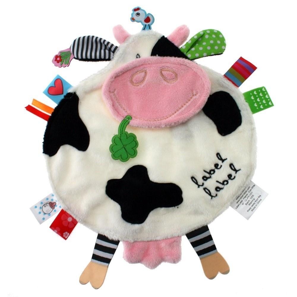 Doudou étiquette Vache Friends Label Label