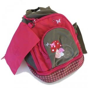 Sac à dos bébé Lassig Champignon rose et rouge
