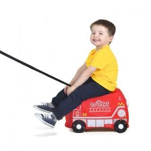 Valise Enfant Trunki à roulette Frank Pompier rouge
