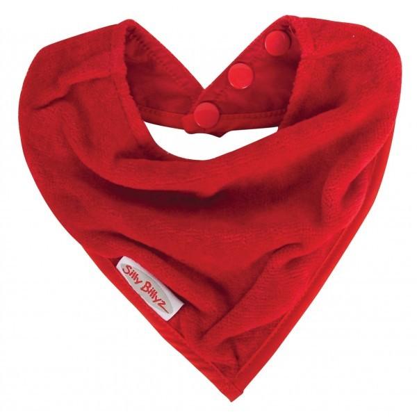 Bavoir de dentition SillyBillyz bandana rouge