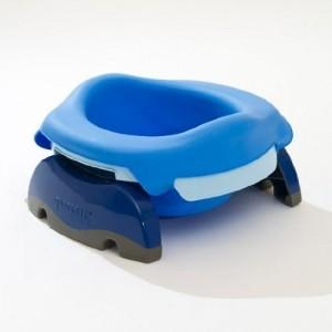 Pot souple bleu pour pot de voyage Potette plus 2 en 1