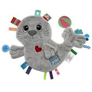 Doudou étiquette bébé phoque Friends LabelLabel