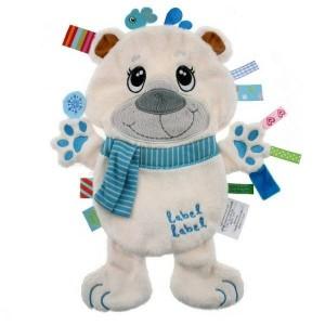Doudou étiquette Ours polaire Friends LabelLabel