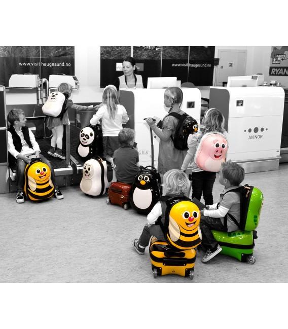 Ensemble valise à roulette et sac à dos Coccinelle de Cuties and Pals