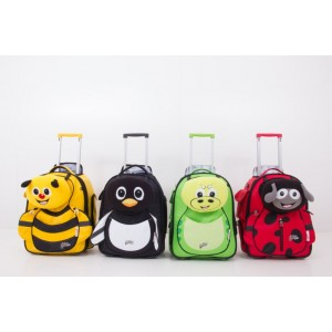 Valise enfant à roulette souple Cuties and Pals