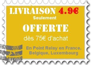 Livraison offerte dès 75€ d'achats