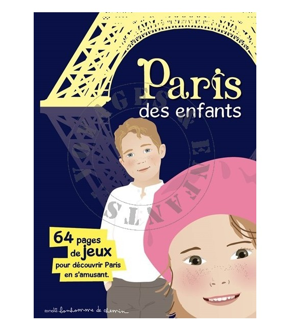 Paris des enfants - livre jeu de voyage de bonhomme de chemin