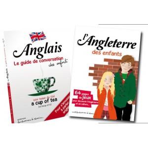 Lot guide conversation et livre-jeu Angleterre pour les enfants