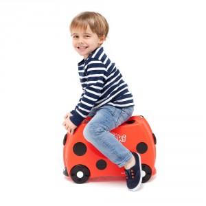 Valise enfant à roulette Coccinelle Harley de Trunki