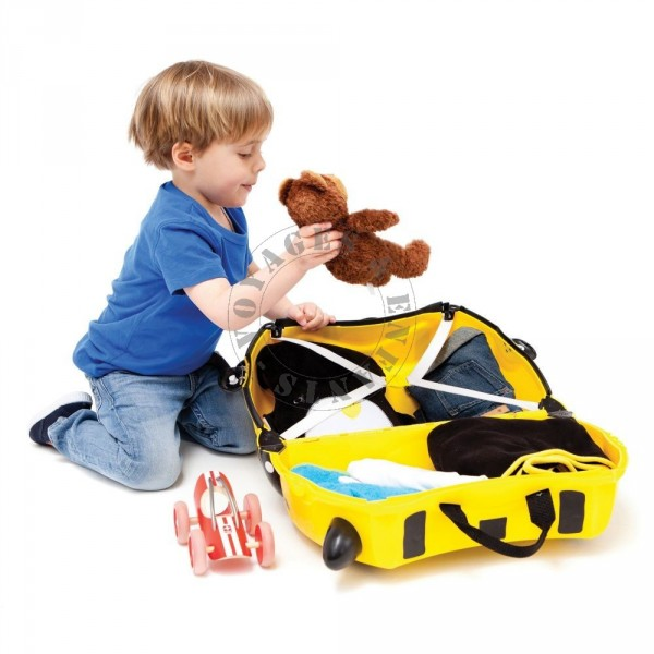 valise enfant trunki abeille jaune. Black Bedroom Furniture Sets. Home Design Ideas