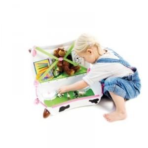 Valise à roulette pour enfant Vache Frieda