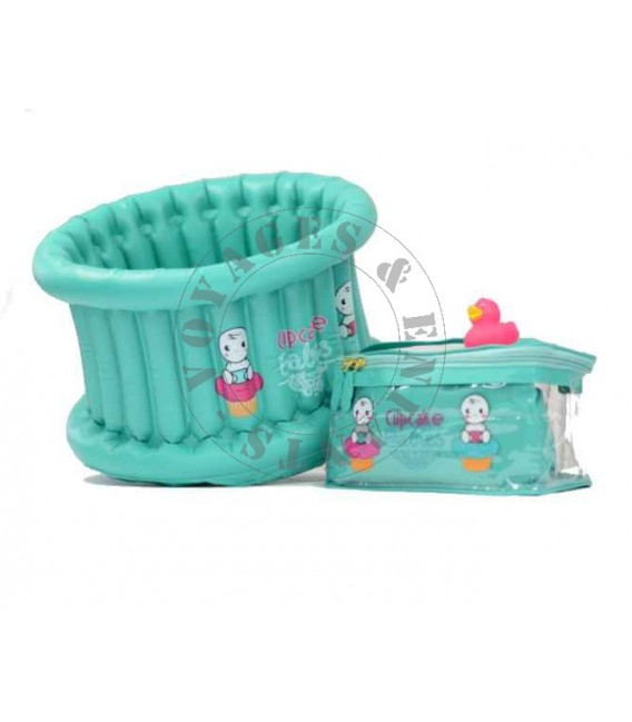 baignoire b b gonflable de voyage cupcake babies. Black Bedroom Furniture Sets. Home Design Ideas