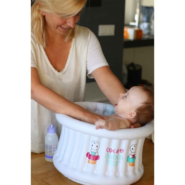 Baignoire bébé gonflable de voyage Cupcake Babies on