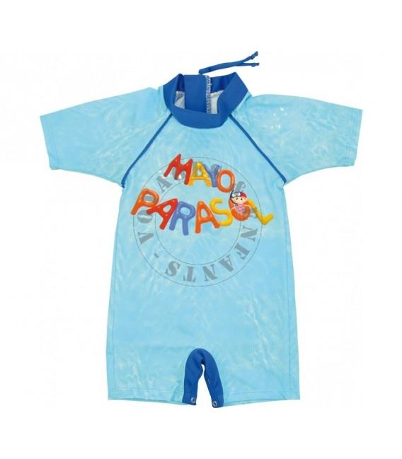 4542c45c4d Combinaison anti UV / maillot de bain anti-UV piscine bleue mayoparasol