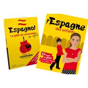 Lot guide conversation et livre-jeu Espagne pour les enfants