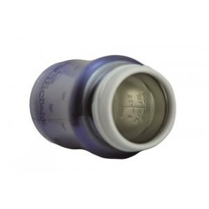 Biberon isotherme 3 en 1 en inox 200ml myrtille