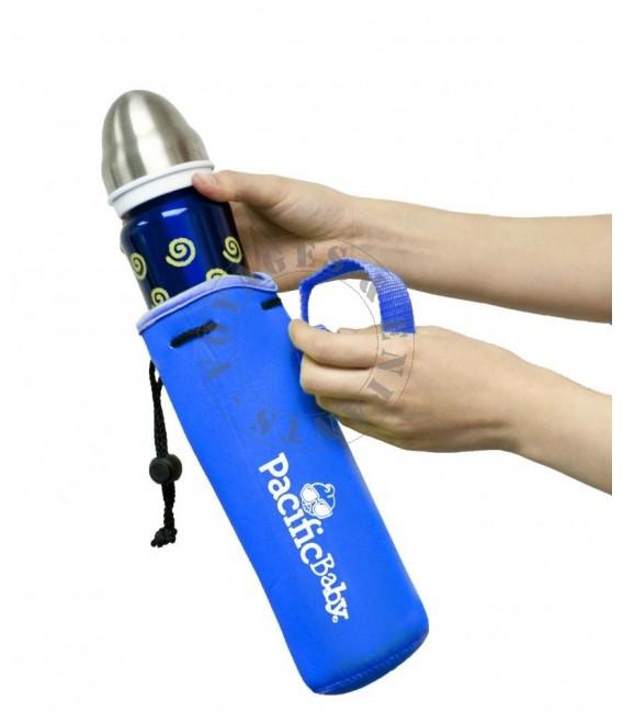 Housse de protection bleue pour biberon