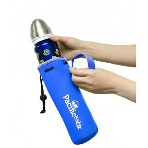 Housse de protection bleue pour biberon isotherme