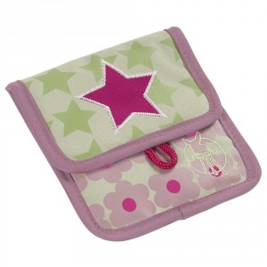 Porte monnaie pochette rose enfant starlight lassig