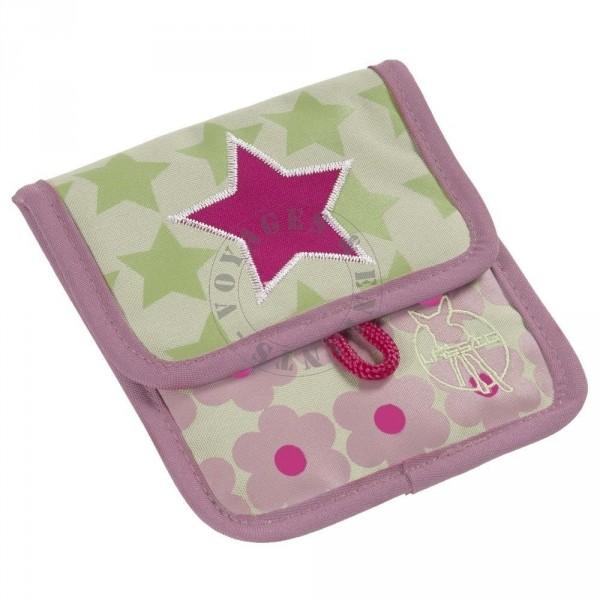 pochette porte monnaie rose pour enfant porter autour du cou lassig. Black Bedroom Furniture Sets. Home Design Ideas