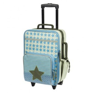 Valise à roulettes enfant Lassig Starlight olive