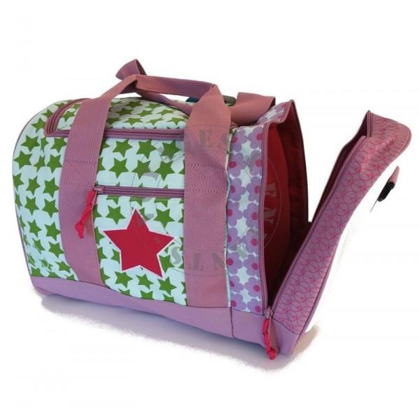 sac de voyage enfant starlight magenta lassig avec poche chaussures. Black Bedroom Furniture Sets. Home Design Ideas