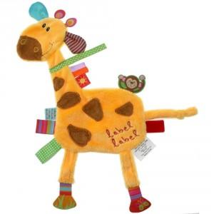 Doudou étiquette Girafe Friends Label Label