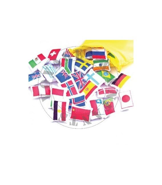 Drapeaux pour carte du monde en tissu Oskar et Ellen