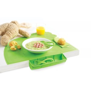Ptit set de table nomade Maastrad Baby vert camping-car