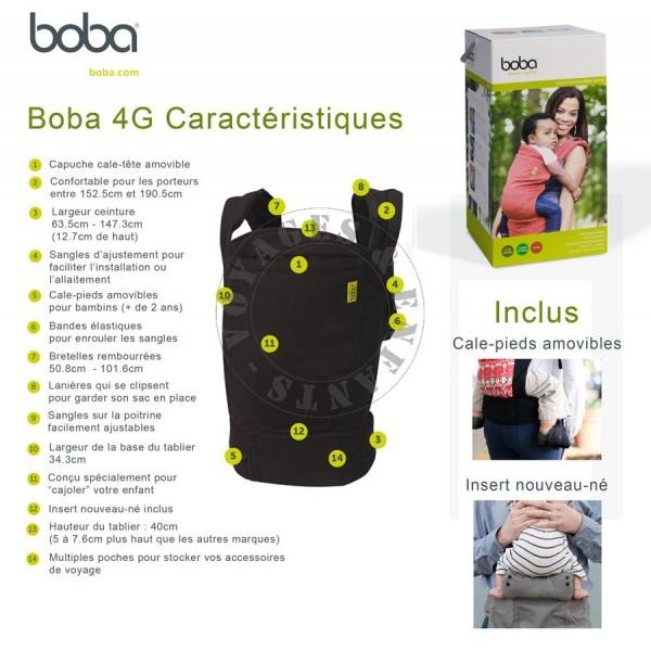 Porte BB Boba G Gris Dusk Porte Bébé Physiologique Et De Voyage - Boba porte bébé