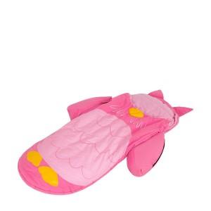 Lit d'appoint gonflable hibou rose pour enfant