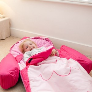 Lit d'appoint gonflable pour enfant chouette hibou rose