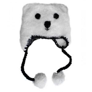 Bonnet Bébé en crochet Huggalugs Ours Polaire